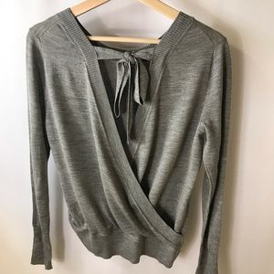 J. Crew gray wrap Sweater small NWT long sleeve